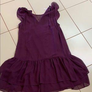 Fun layered purple dress